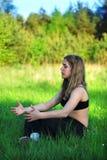 йога природы Стоковые Изображения