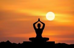 йога раздумья Стоковое Фото