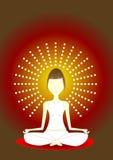 йога раздумья иллюстрация штока