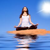 йога раздумья Стоковые Фото