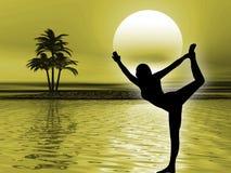 йога раздумья Стоковая Фотография