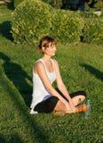 йога травы Стоковая Фотография