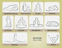 Йога усадила установленные представления иллюстрация штока