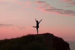 Йога утра молодой женщины Стоковые Фото