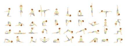 Йога для детей иллюстрация вектора