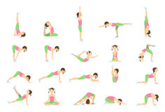 Йога для детей иллюстрация штока