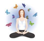 Йога для здорового уклада жизни Стоковое Изображение RF