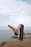 йога exerciser стоковые фотографии rf