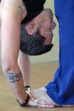 йога hastapadasana стоковое изображение rf