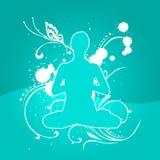 йога ligth 02 син стоковое изображение