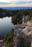 йога minnewaska озера Стоковое Изображение RF
