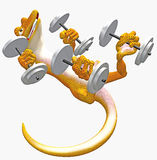 йога toon gecko иллюстрация вектора