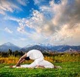 йога valakhilyasana представления Стоковая Фотография