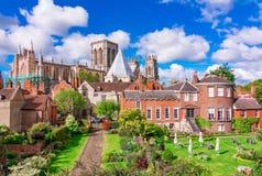 Йорк, Англия, Великобритания: Монастырская церковь Йорка, одна из самой большой своего вида в Северн Северном стоковое фото rf