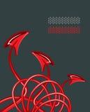 кабели дьявола абстракции Иллюстрация штока