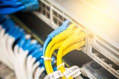 кабели соединили сеть Стоковое Изображение RF