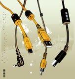 кабели иллюстрация штока