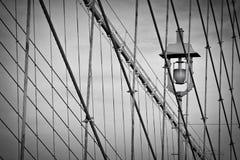 кабели brooklyn моста стоковая фотография rf