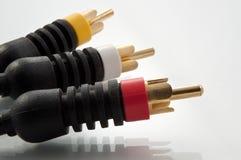 кабельные соединители av Стоковое фото RF