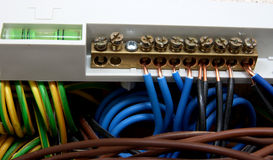 кабельные соединения электрические Стоковая Фотография RF