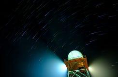 Кабель звезды над башней Стоковое Фото