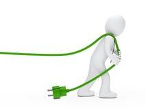 кабель рисует человека Стоковые Фото