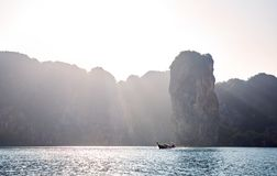 кабель Таиланд шлюпки длинний стоковое фото