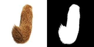 Кабель Fox изолированный на белой предпосылке бесплатная иллюстрация