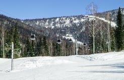 Кабел-кран в горах Стоковая Фотография RF