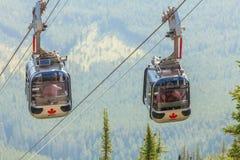 Кабел-кран Канада Banff Стоковое Фото