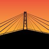 Кабел-остали мост Стоковые Фото