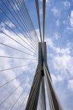 Кабели и опора моста Стоковое Изображение RF