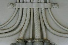 Кабели на линкоре Висконсине Стоковое Изображение