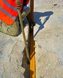 Кабели оптического волокна похороненные в микро- канаве Стоковая Фотография RF