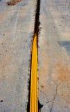 Кабели оптического волокна похороненные в микро- канаве Стоковые Фотографии RF