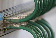 Кабели пульта временных соединительных кабелей для соединяться к широкополосному интернету Стоковые Изображения