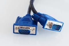 Кабели VGA - серия частей компьютера Стоковые Изображения RF