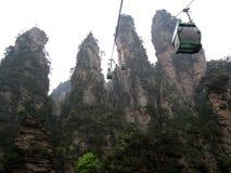 Кабел-кран в горах Стоковые Изображения RF