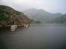 Кабел-кран в горах Стоковое фото RF