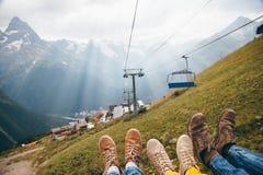 Кабел-кран в горах Стоковая Фотография