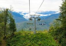 Кабел-кран в горах Стоковые Фото