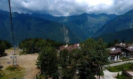 Кабел-кран в олимпийской деревне, Сочи Стоковые Фотографии RF