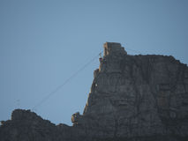 Кабел-кран горы таблицы, Кейптаун (Кейптаун, южная Африка 16-ое августа 2016) стоковое изображение