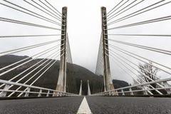 Кабел-остали мост Стоковая Фотография