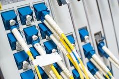 Кабельная сеть оптического волокна другое Способный получать - tra Стоковые Фото