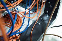 Кабельная сеть оптического волокна другое Способный получать - tra Стоковое Изображение RF