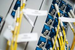 Кабельная сеть оптического волокна другое Способный получать - tra стоковое фото