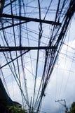 Кабельная сеть перед голубым небом Стоковые Фотографии RF