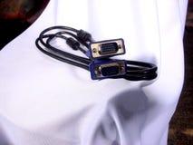 Кабель данным по VGA на монитор 2 Стоковое Изображение RF