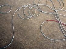 кабель и крюк для устанавливают в ворот автомобиля стоковая фотография
